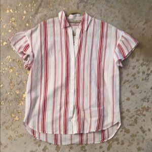 Madewell Tunic Shirt in Red Stripe